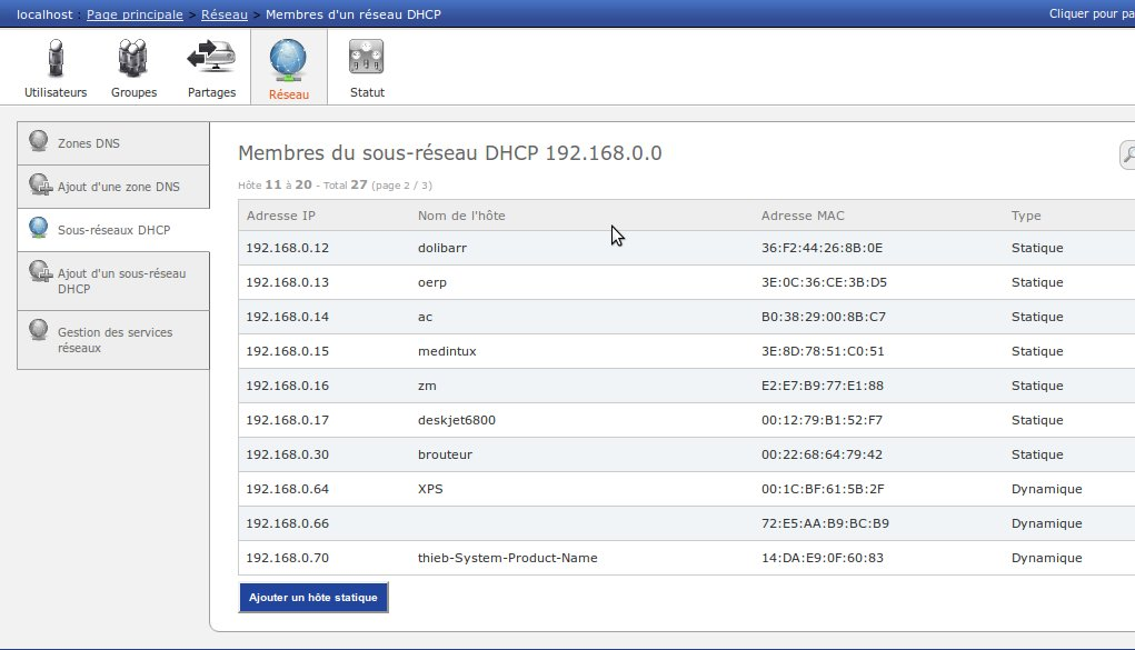 gestion dhcp dns