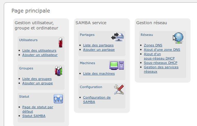 interface web 2.0 côntroleur de domaine